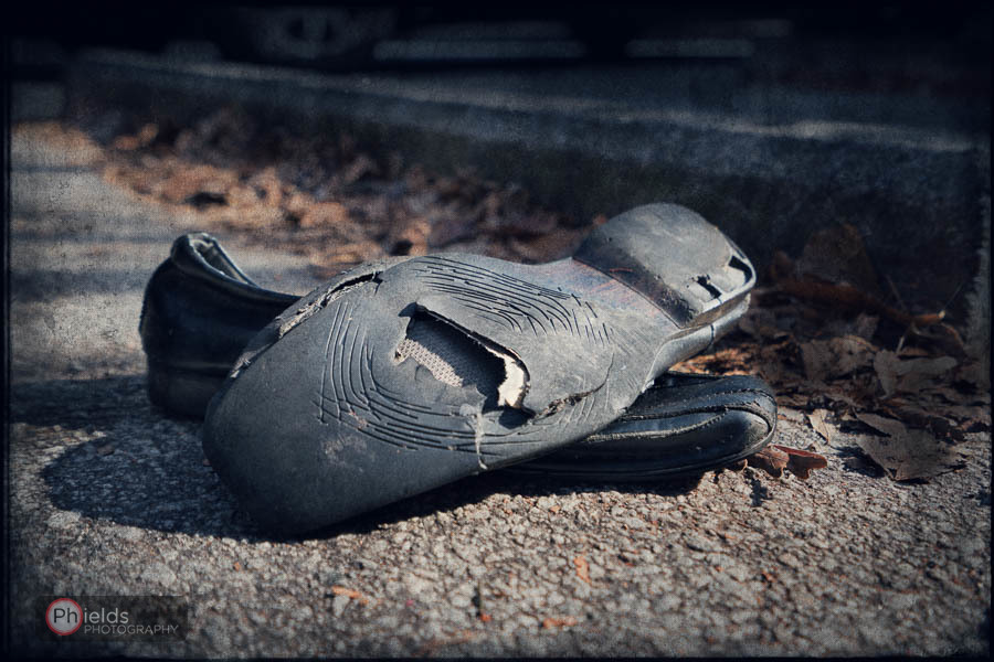 A discarded pair of black men